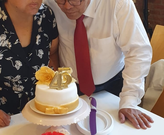 Een gepersonaliseerde taart.