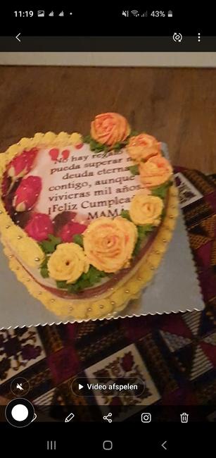 Verjaardag taart hartvorm