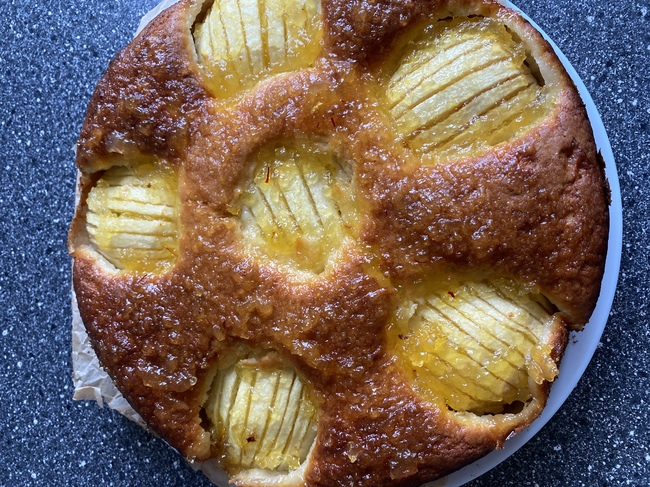 Kwark cake met appel