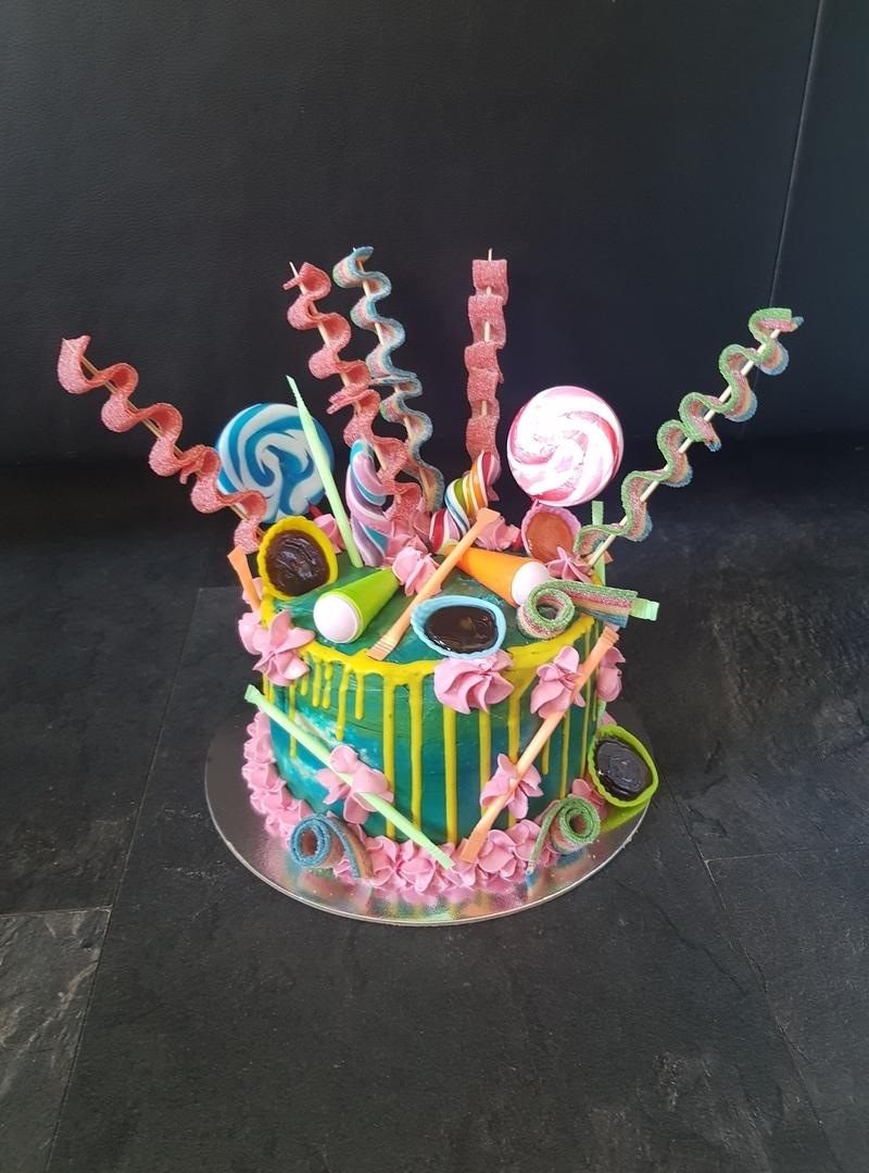 Verjaardag snoep taart