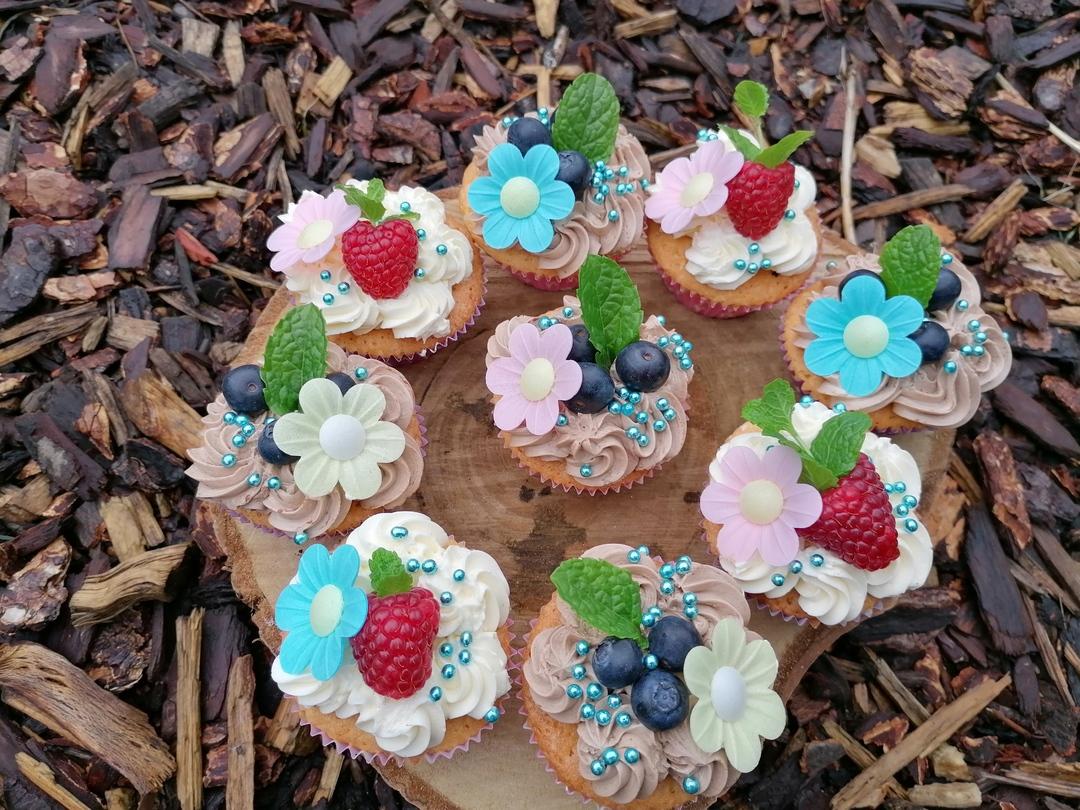 Cupcake met meringue botercreme