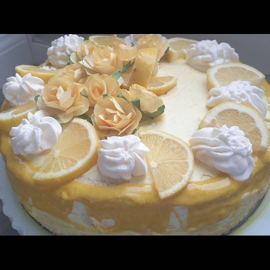 Verjaardagstaart met citroen